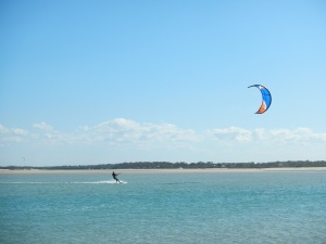 Kiting at Elliot Head