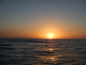 Sunset on the way to Lady Musgrave Island
