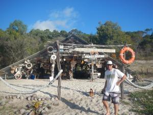 The yacht club on Percy Island