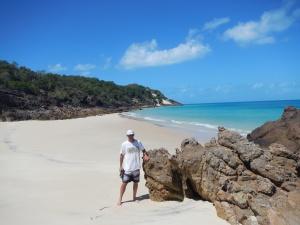 The pristine beach