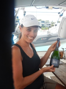 Champagne Queen with spoils