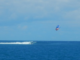 Kiting the waves at Ouano