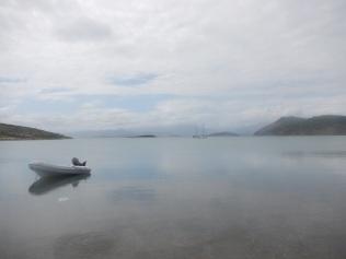 Dingy at Moustiques Bay