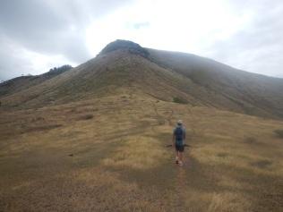 Setting off up the ridge