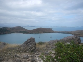 Moustique Bay from the summit