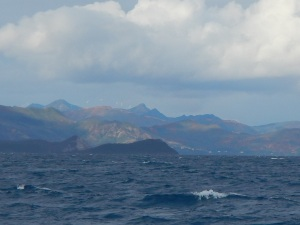 Wind turbins on the New Caledonia mountains