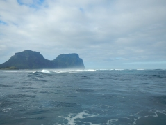 Leaving Lord Howe through North Passage.