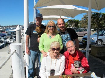 The family at Quays marina