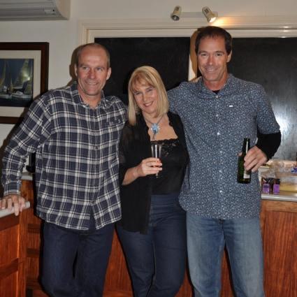 Tim, Jacqui, Bruce at Bruce's 50th