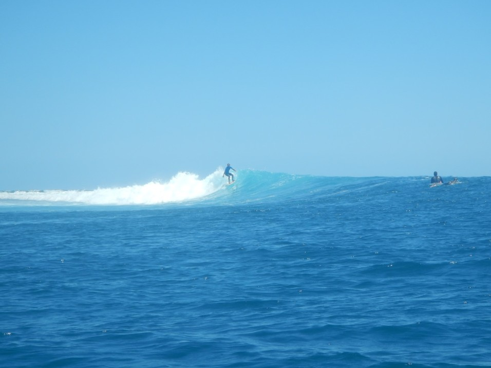 Surfing at Ouano