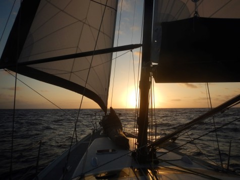 Into the sunset, perfect sailing