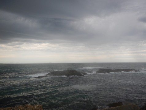 Stormy rocks off Northern breakwater
