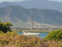 Joilfou at anchor Ouano Bay