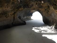 Beach sea cave